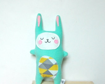 Bunny Rabbit Plush, Stuffed Bunny, Rabbit Softie, Rabbit Doll, Woodland Nursery, Baby Gift
