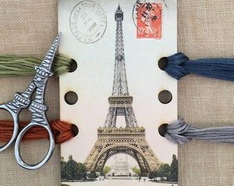 Eiffel Tower thread keep embroidery floss organizer