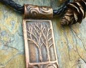 Copper Tree Pendant/Copper Two Trees Necklace/Tree of Life Jewelry/Irish Celtic Jewelry/Druid Pagan Jewelry/Copper Spirals Trees Jewelry