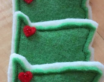 Wool/Rayon Felt Portland, Oregon Tack Pins