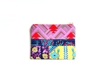 Scrappy Zipper Pouch, Patchwork, Coin Purse, Change Pouch, Women's Wallet, Amy Butler Splendor