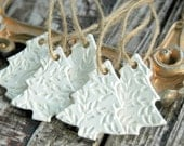 Set of 5 . Christmas Tree Ornaments . Handmade Clay Ornaments . CoWorker Gift Christmas Gift for CoWorker . Rustic Primitive Christmas Gift