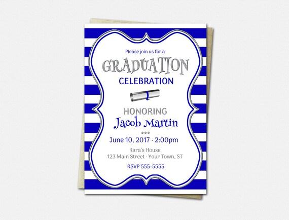 Graduation Party Invitations - High School Graduation Invitation - College Graduation Invitations - Color Choice - Graduation Invitations