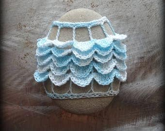 Home Decor, Crochet Lace Stone, Table Decoration, Handmade, Original, Nature, Tutu, Folk Art, Ruffles, Unique, Monicaj
