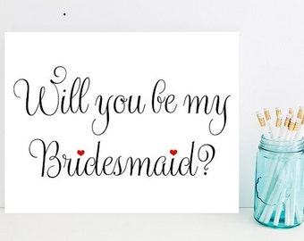 Will you be my bridesmaid- Card for wedding - Card for bridesmaid - Wedding party - Wedding Cards - bridesmaids - Wedding