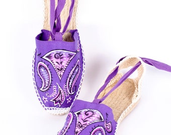 Valencian espadrilles - hand painted