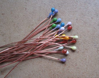 Enamel Beads and Components - Enamel Headpins - SueBeads - Colorful Enameled Headpins - Headpins - Enameled Headpins