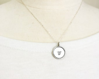 Initial necklace, personalized sterling silver jewelry gift for her, handmade gift for daughter mother wife girlfriend