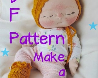 PDF Pattern- How to Make a Newborn BeBe Baby Doll by BeBe Babies and Friends