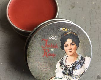 Historically Inspired: 1740-1810 Solid Turkish Rouge Lip Color Lipstick Lip Tint Stocking Stuffer