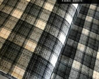 Gray Plaid, Mammoth Plaid Flannel, Gray Plaid, Christmas Flannel, Plaid Scarf fabric, Robert Kaufman, Mammoth Flannel in Smoke 293