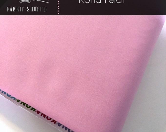 Kona cotton solid quilt fabric, Kona Petal 143, Pink fabric, Solid fabric Yardage, Kaufman, Cotton fabric, Choose the cut