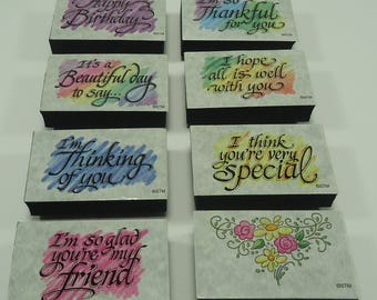 Beautifully Said Foam Mounted Rubber Stamp Set SS130 From Stampendous Happy Birthday, I'm Thinking Of You, I'm So Thankful For You