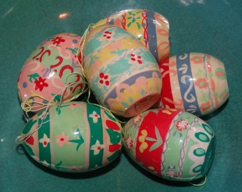 Vibrant Hand Painted Wooden Easter Eggs, Easter Eggs, Wooden Eggs, Easter Basket Decoration, Easter Holiday Decoration (6)