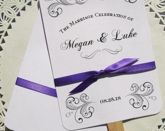 Wedding  Favor Fans - Wedding Fans - Unique Wedding Fans - Wedding  Hand Fans - Hand Fans - Wedding Paper Fans - Ceremony Fans - Fans