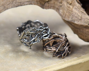 Uprooted -- Ring in Bronze or Silver