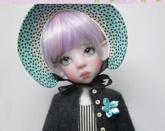 """OOAK  Extra special set for Kaye Wiggs dolls.  """"Aqua Splash"""" outfit.  Fits Mei Mei (43cm) AND MSD (45cm)  Includes shoes."""