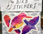 Bird sticker set