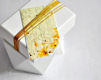 Map Mini Envelopes {5 w. cards/ seals} OOAK | Yellow Mini Envelopes | Cute Stationery | Gift under 10 | Map Envelopes | Mothers Day
