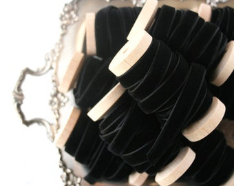 "Black Velvet Ribbon, 3 yards, Black Ribbon, 3/8"" Velvet Ribbon, Choker Ribbon, Velvet Ribbon"