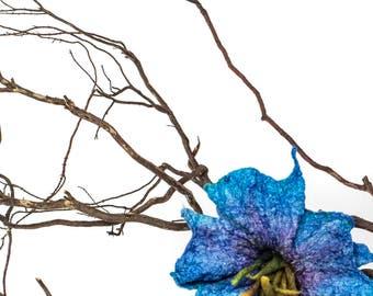 Felt brooch , felt flower brooch pin, silk flower,  felted flower, pin flower, felt brooch, brooch, pin,  Wool Flower Hair Clip, corsage