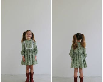 1950s Floral Medallion Dress /// Size 4t/5t