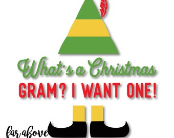What's a Christmas Gram?  I want one!  SVG, DXF, png, jpg digital cut file for Silhouette or Cricut Elf