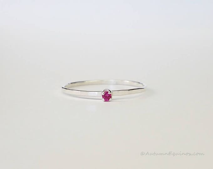 Ruby Birthstone Ring July Stackable Ring