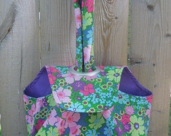 Small Grommet Bag, Project Tote-Summer Blooms