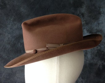 1950's brown Stetson Open Road size 7
