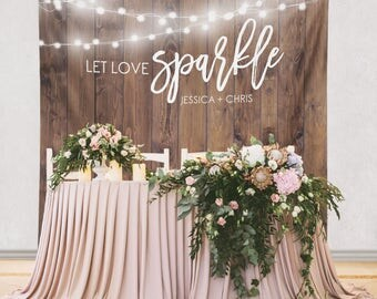 Wedding Step and Repeat Backdrop, Wedding Photo Booth Backdrop, Wedding Photo Backdrop, Wedding Custom Event Backdrop/W-G22-TP MAR1 AA3