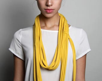 Yellow Scarf, Long Yellow Scarf, Men's, Womens, Jersey Cotton, Burning Man