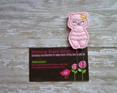 Planner Clips - Pink Llama With A Yellow Flower On Her Ear Felt Paper Clip Or Bookmark - Animal Accessories For Planners, Calendar, Or Books