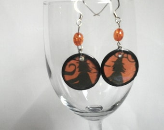 Halloween  Witch  Dangle Earrings
