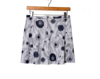 RAVER Floral 90s Mini Skirt Medium