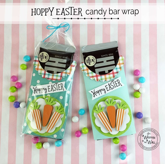KIT Hoppy Easter Candy Bar Wraps / Easter Basket / Easter Candy / Easter Carrots / Easter Treats / Kids / Teachers / Co-Workers / Blue