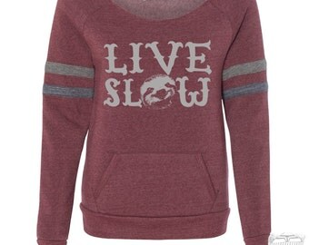 Women's LIVE SLOW Eco-Fleece Women's Maniac Sport Sweatshirt - Alternative Apparel