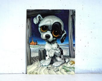 Pity Puppy Print | Big Eyed Puppy | Gig Pity Puppy Potato Chip | Sad Eyes Puppy | K221