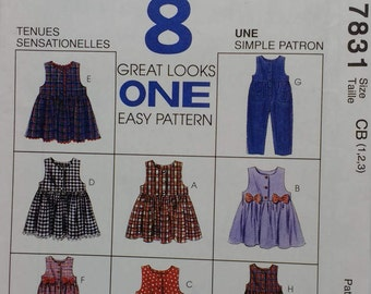 Childrens Jumper Pattern 8 Great Looks 1 easy Pattern Mccalls 7831 Childs Size 1 2 3