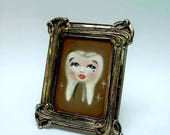 Tiny Oil Painting Sweet Tooth Original Art Lowbrow