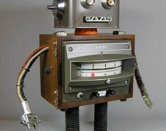 ROBO WEST Found Object Robot Sculpture  Assemblage
