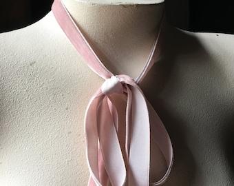 """3 yds. Rose Quartz Velvet Ribbon 5/8"""" for Millinery, Jewelry or Costume Design VL"""