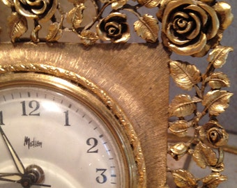 Ornate Gold Frame Electric Alarm Clock by Matson