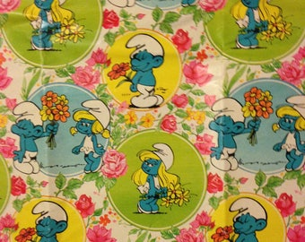 1982 Smurf Children's All Occasion Gift Wrap