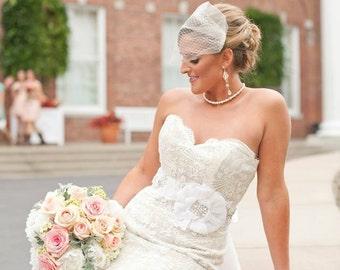 Wedding earrings, Wedding jewelry, Crystal Bridal earrings, Statement earrings, Pearl earrings, Swarovski earrings, Long earrings, ASHLYN