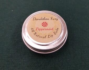 All Natural Peppermint Lip Balm Tin