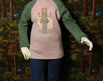 Zombie Living Dead Doll Shirt for Fairyland Minifee Iplehouse KID bjd abjd slim mini msd