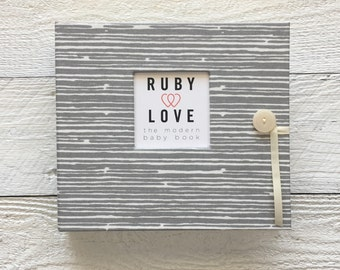 Gray Woodsy Stripe | BABY BOOK
