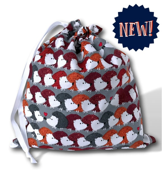 NEW Hedgehog Love - Solo Sheepie, A Multi-skein Project Bag for Knitting or Crochet