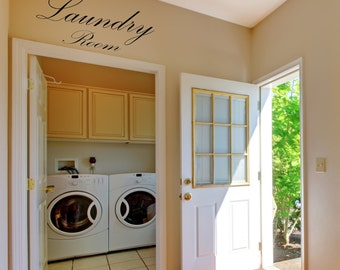 Laundry Room Vinyl Decal, Laundry Room, Wall Decal, Vinyl Decal, Wall Words